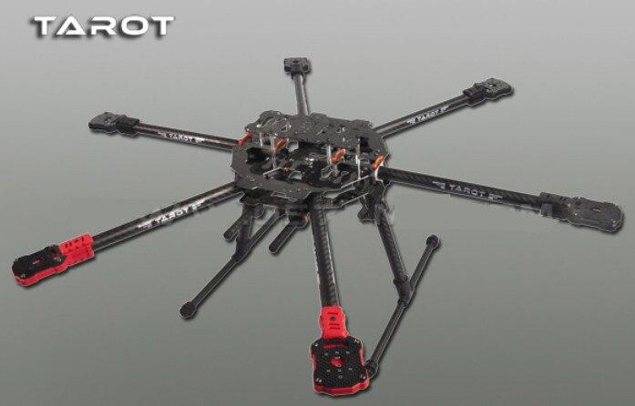 TAROT 6 Axis IRON MAN FY690S z włókna węglowego 3 K składany Hexacopter zestaw ze szkieletem FPV TL68C01 w Części i akcesoria od Zabawki i hobby na  Grupa 1