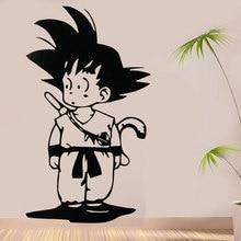 Dragon ball anime japonês goku decalque da parede quarto teen anime fãs decorativos adesivo de parede vinil lz10