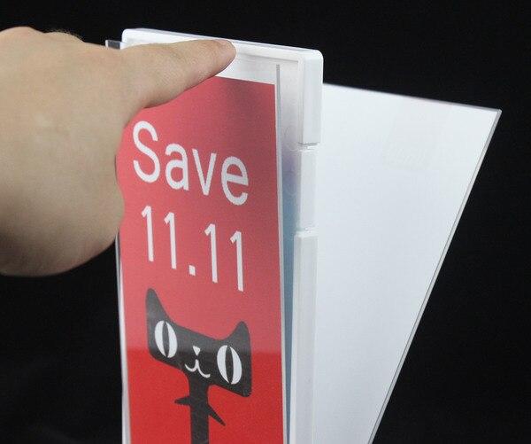 A4 Uhoo Table Desktop Soft Label Holder Banner Poster Sign Card Display Rack Picture Photo Frame Literature Advertising Rack Pop Card Holder & Note Holder