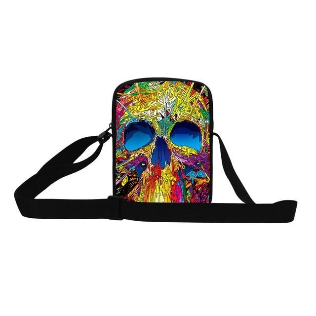 Mini Unique Cool Skull Mens Crossbody Bags Casual Ghost Children Messenger  Bag Kids Traveling Shoulder Bag Boys Handbag Bolsos