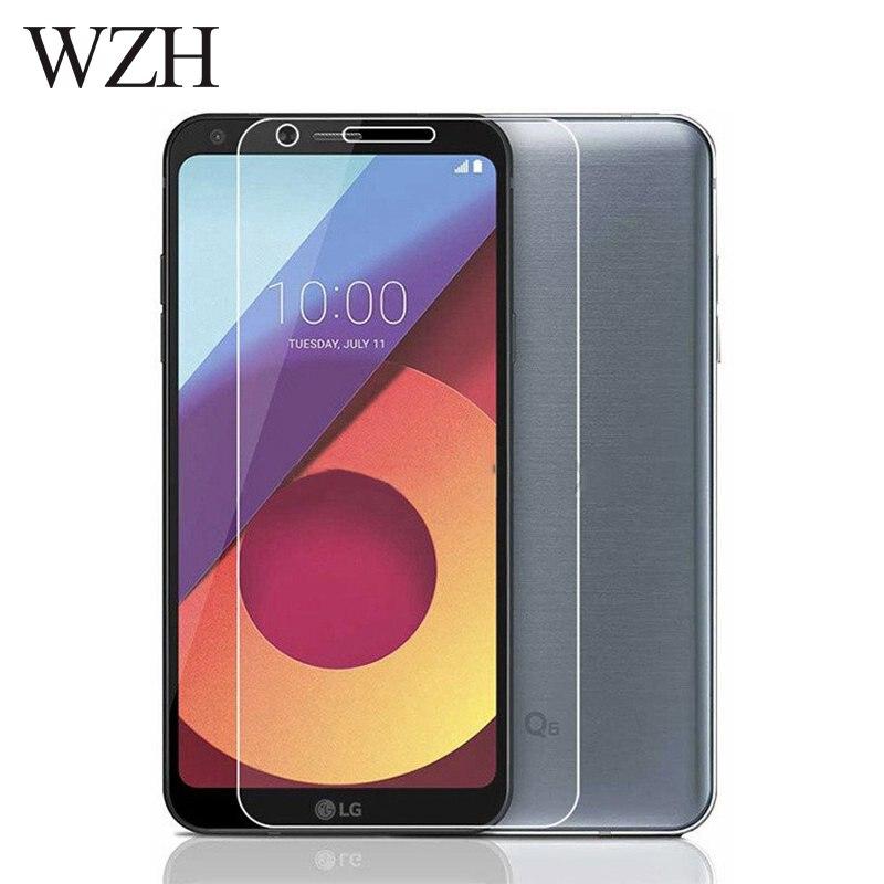 WZH Tempered Glass LG Q6 Screen Protector LG Q6 Alpha Q6a Q 6 A M700 Screen Protector Glass Protective Flim Cover Case