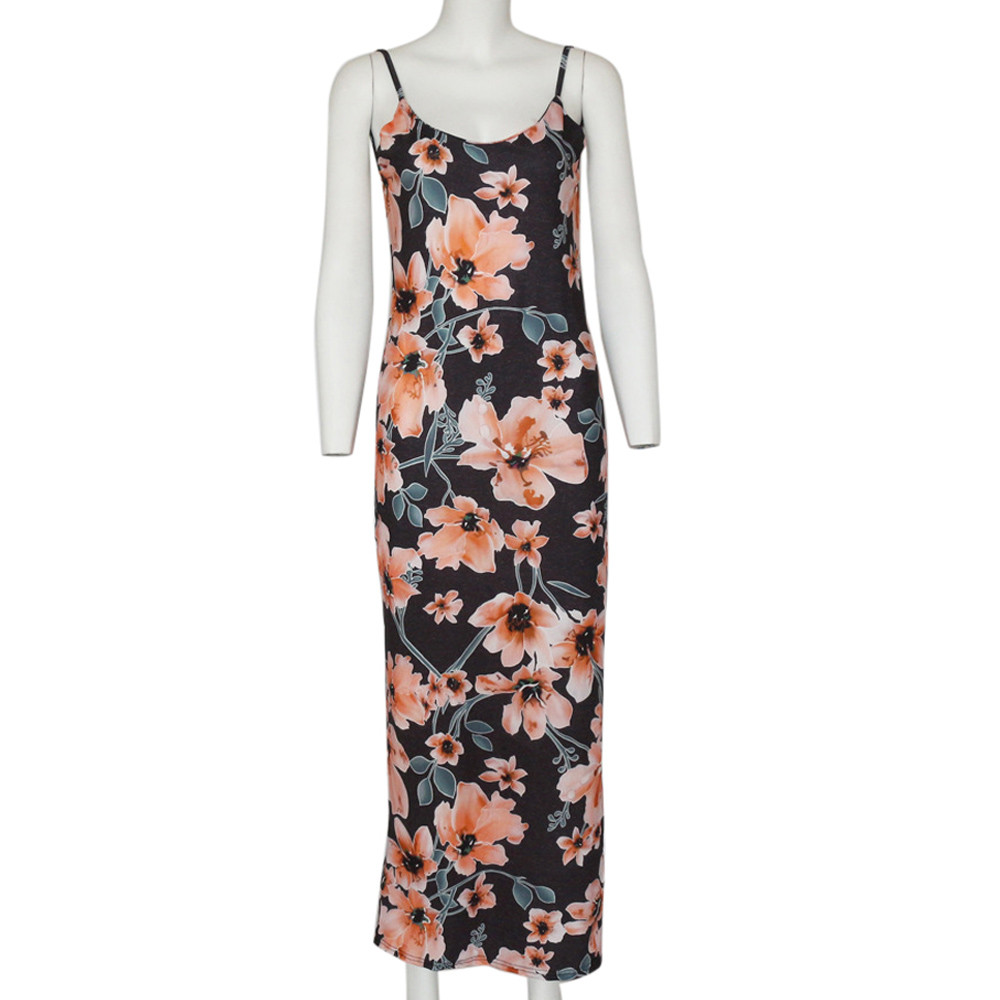 HTB10SCHbovrK1RjSspcq6zzSXXaW Free Ostrich 2019 Fashion Womens Floral Printed Camis Backless Split Party Sexy Bodycon Long Dress Side Slit Vintage Long Dress