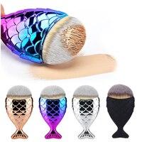 Cosmetic Makeup Brush Fish Scale Makeup Brush Mermaid Bottom Brush Powder Foundation Contour Brushes Set&kits Fishtail Make Up