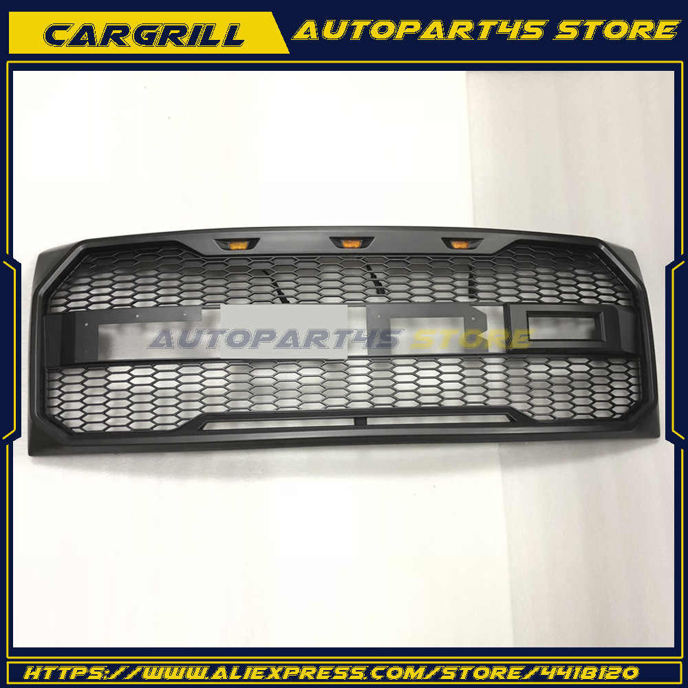 Style Sport Mesh Charcoal Gray Front Bumper Grille For 2017 Ford