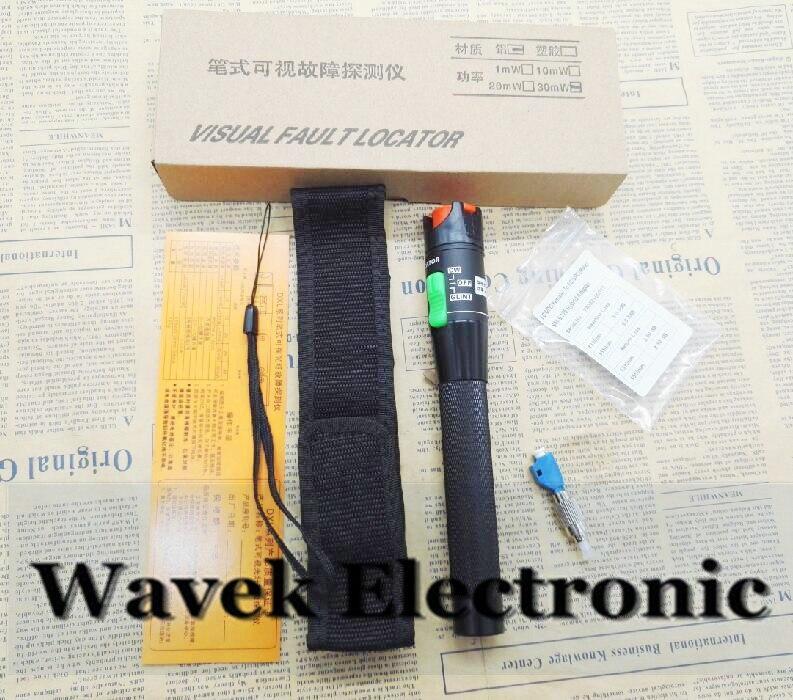 30 MW Localizador Visual de fallos de fibra cable tester Detector LC hembra a macho FC LC-FC SM 9/125 adaptador híbrido LC /SC/ST/FC conector