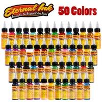 Eternal Tattoo Ink Set 50 Colors Set 1oz 30ml/Bottle