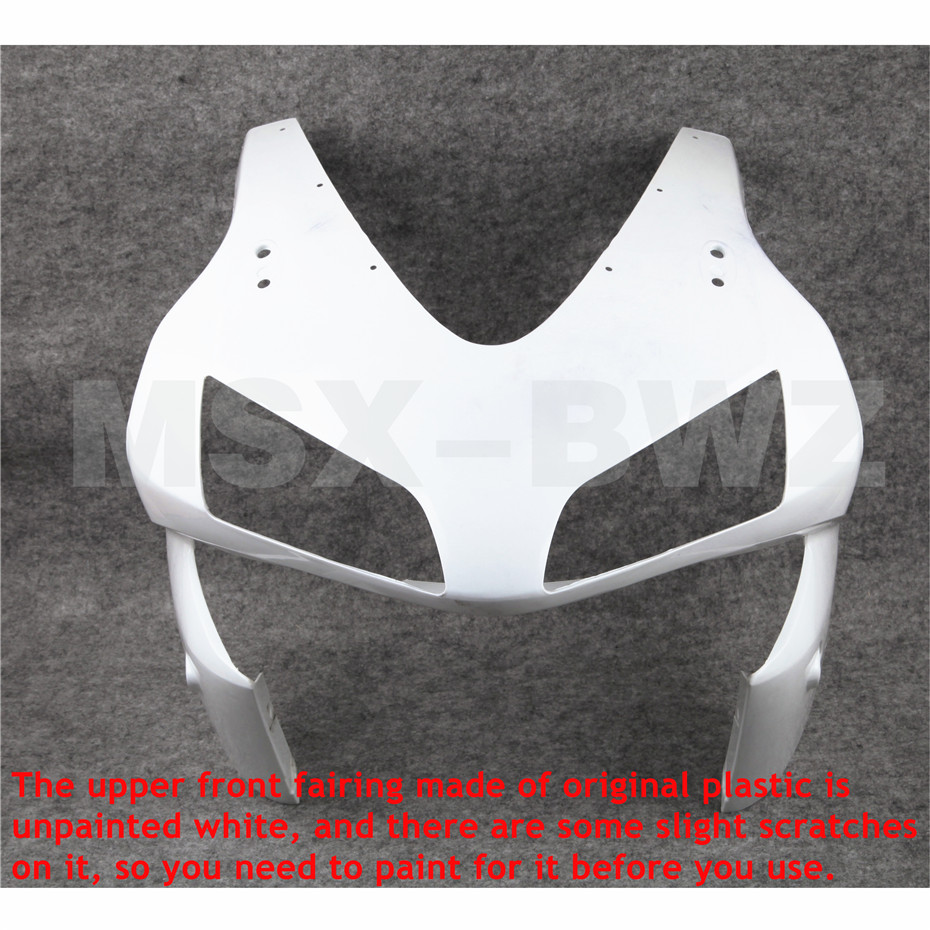 Upainted Upper Front Fairing Cowl Nose Fit Honda 2003 2004 CBR 600 RR F5 ABS Plastic Motorcycle CBR600 CBR600RR