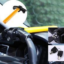 VODOOL Универсальный Автомобильный руль Противоугонный замок авто для внедорожника грузовика Противоугонная безопасность Поворотный руль алюминиевый замок