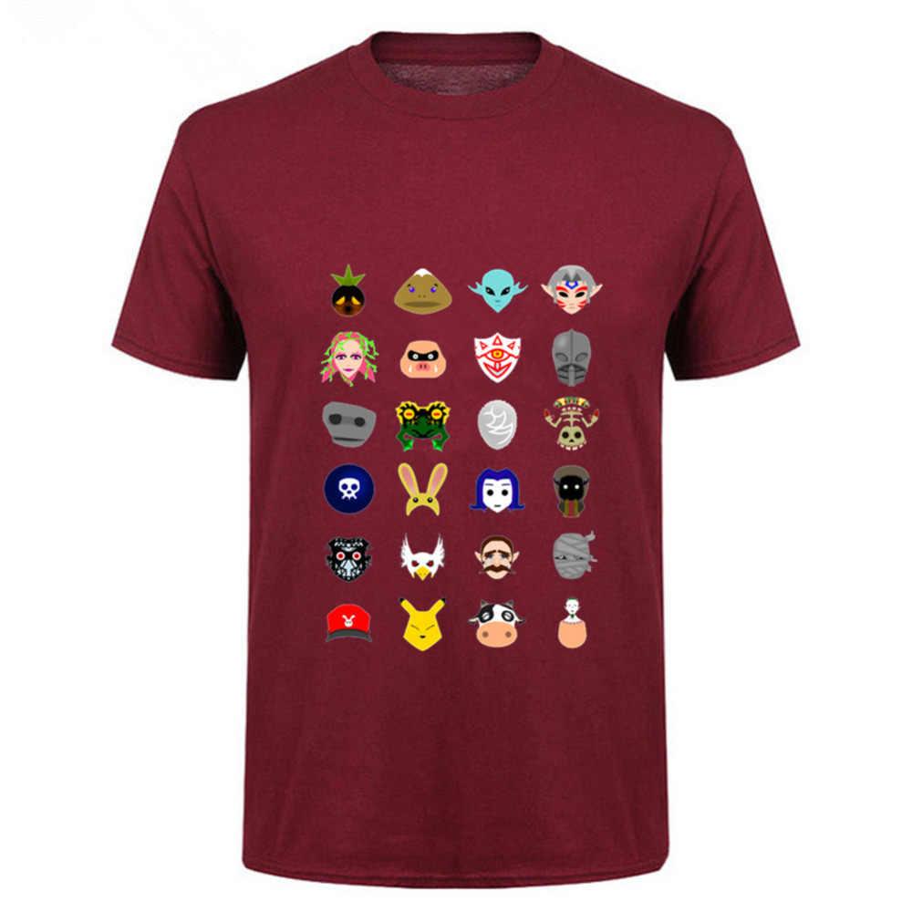 2018 название бренда легенда о Зельде мажора маска Camisetas Мужская футболка Череп ребенок краска uomo мужской Kanye West футболка