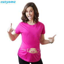 Baby Printed Short Sleeve Maternity T-Shirts