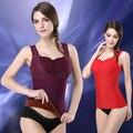 Женская теплая зима жилет коррекции фигуры с длинными рукавами теплая одежда