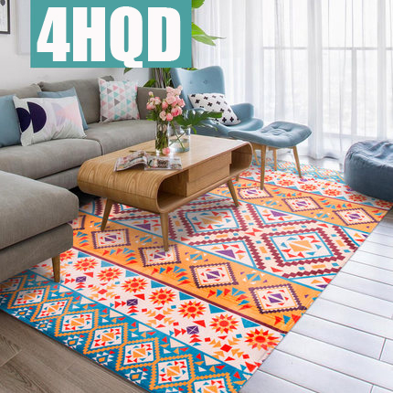 Retro National Wind Living Room Carpet Nordic Coffee Table Sofa Large Bedroom Bedside