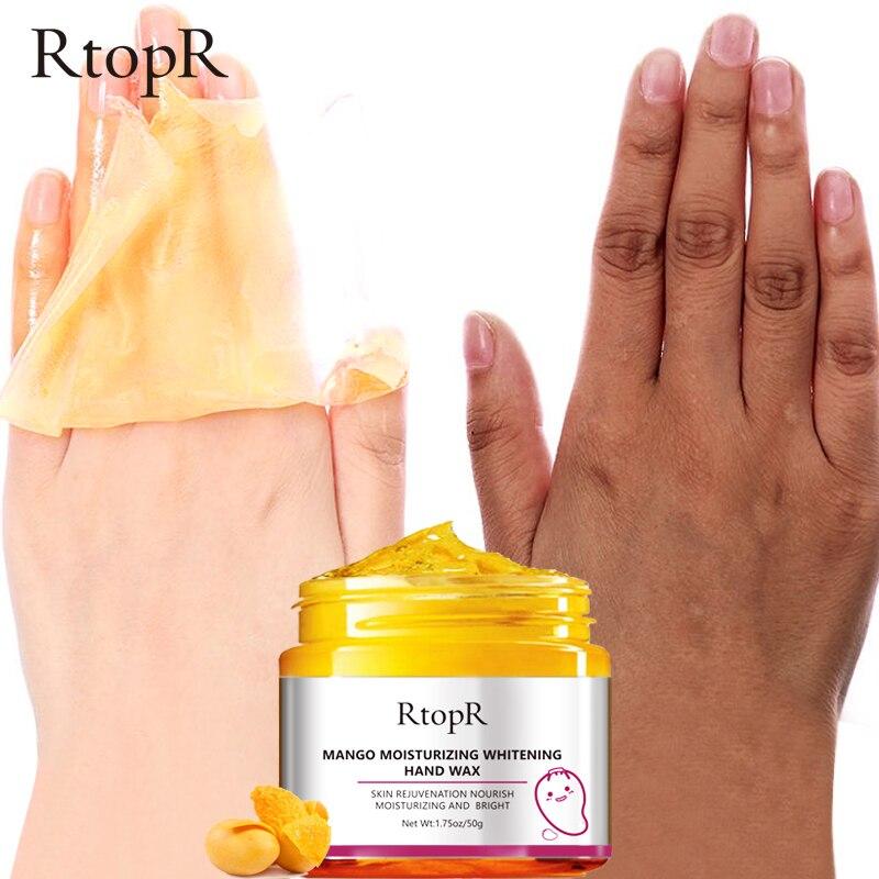 Mango Moisturizing Hand Wax Whitening Skin Hand Mask Repair Exfoliating Calluses Film Anti-Aging Hand Skin Cream 50g 3