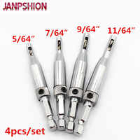 4pcs/set Professional doors Self Centering Hinge Hardware Drill Bit Set wood drills hole saw Free shipping