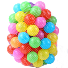 100pcs/lot eco-friendly colorful soft plastic water pool ocean wave ball baby funny toys stress air ball outdoor fun sports gift