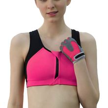 Adjustable Strap Seamless Bra Shirt  Zipper Front Padded Underwear Women Comfort Quick Dry Bra Top front close zipper sporty bra
