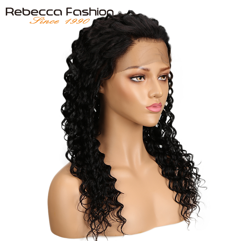Rebecca Deep Wave 360 Lace Frontal Wig Natural Color 10