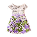 Newest Baby Girls Kids Dress Polka Dots Butterfly Princess One-piece Dress