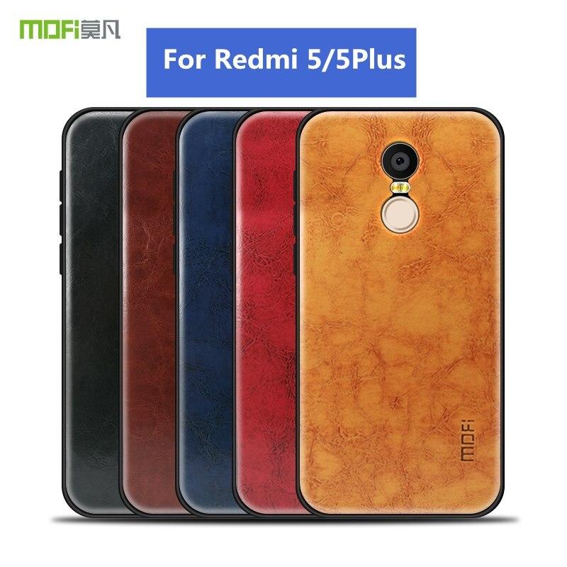 Mofi Leather Grain TPU Phone Cases For Xiaomi Redmi 5 Case Soft Anti-knock Cover For Xiaomi Redmi 5 Plus Cases Capa Coque