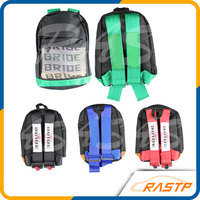 New Style JDM Bride Racing Fabric Backpack Special Design School Bag New Fashion Backpack LS BG008