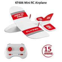 2019 KFPLAN KF606 2.4Ghz 2CH EPP Mini Kapalı RC Planör Uçak Yerleşik Gyro RTF Iyi Esneklik, güçlü Direnç Düşen