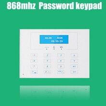 868 МГЦ ЖК-дисплей Беспроводной двусторонней клавиатуры дистанционного управления, внешний Пароль клавиатура для 868 МГЦ gsm сигнализации