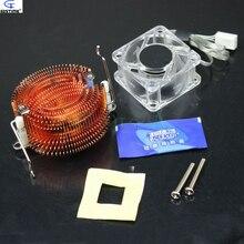 1pcs PC Cooler Small Fish Northbridge Radiator Copper North Bridge Chipset Heatsink with Crystal F-46 Cooling Fan 40*20mm