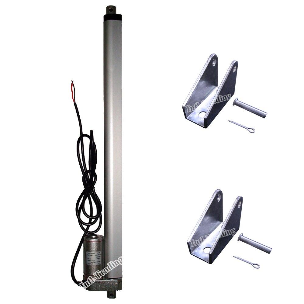 """Verstandig Dc 12 Volt 400mm 16 """"slag Zware Lineaire Actuator & Beugels 14 Mm/s 220lbs Max Lift Mini Motor Voor Elektrische Bank/bed/venster Heilzaam Voor Het Sperma"""