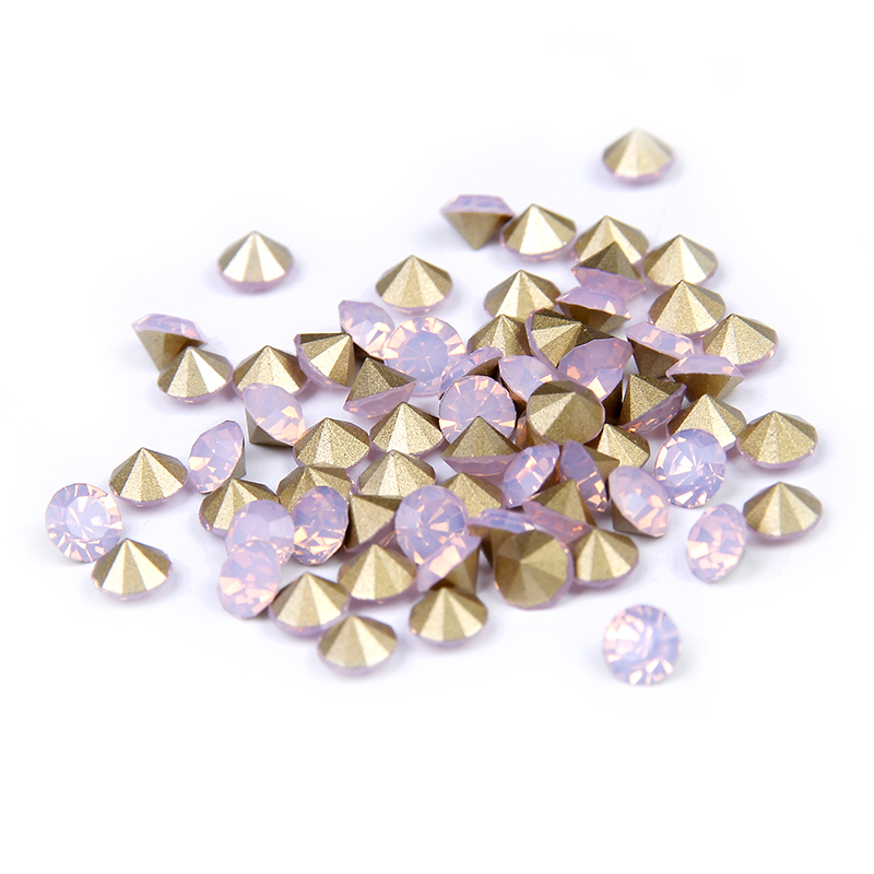 New Arrive ss11.5-ss25 Pink Opal Color Glitter Crystal Glass Pointback Design Rhinestones Strass For 3D Nails Art Decorations  crystals of opal rhinestones for nail glass gems 3d nail art strass ongle decorations rhinestones on nails opal manicure mjz1004