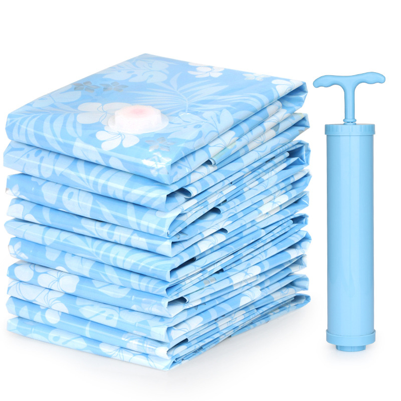 2019 Vacuum Storage Bag Vacuum Compressed Bag With Hand Pump Blanket Clothes Reusable Quilt Storage Bag 11pcs/Set Home Organizer