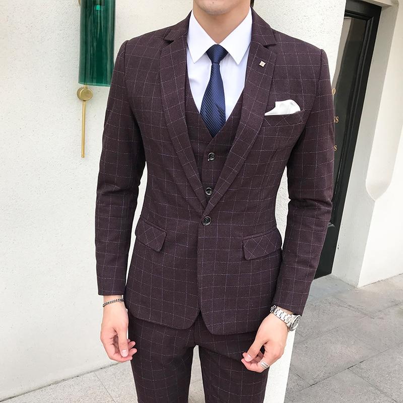 Robe Formelle Red Mariage De Gilet veste 5xl Fit Purple Luxe Blazers s Pour Green Usure Costumes dark Costume Pantalon Masculin Slim D'affaires Hommes Parti w6X1T