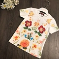 Catimini T-shirt 2017 summer French  flower T-shirt shirt new style girl t-shirt short sleeve  tees