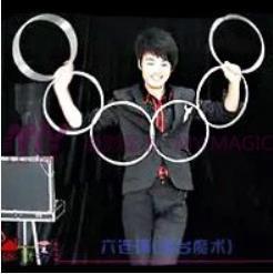6 связь кольца с магнит из нержавеющей стали ( диаметр : 30 см ) - фокусы, крупным планом, этап магия реквизит, аксессуары