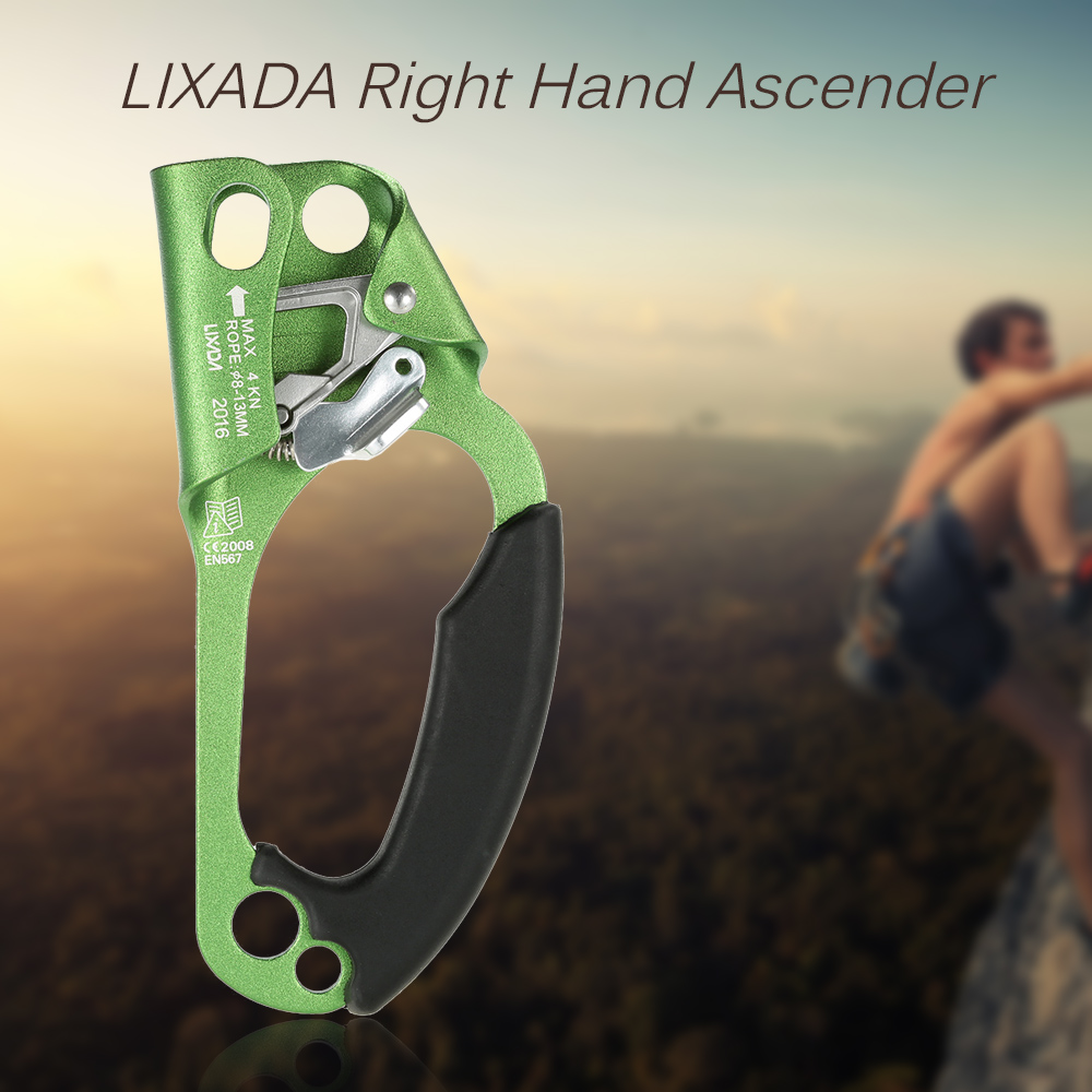 Image 5 - Lixada Right Hand Ascender for 8mm 13mm Rope Outdoor Tool Rock Climbing Caving Rescue Outdoor Tool Ascender Multi Tools-in Outdoor Tools from Sports & Entertainment