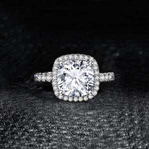 Image 2 - JewelryPalace 3ct CZ Halo אירוסין טבעת 925 טבעות כסף סטרלינג לנשים יום נישואים טבעת חתונת טבעות כסף 925 תכשיטים