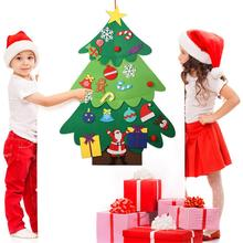 115cm Kids DIY Felt Christmas Tree With Ornaments Children Gifts For 2019 New Year Door Wall Hanging Xmas Decorations