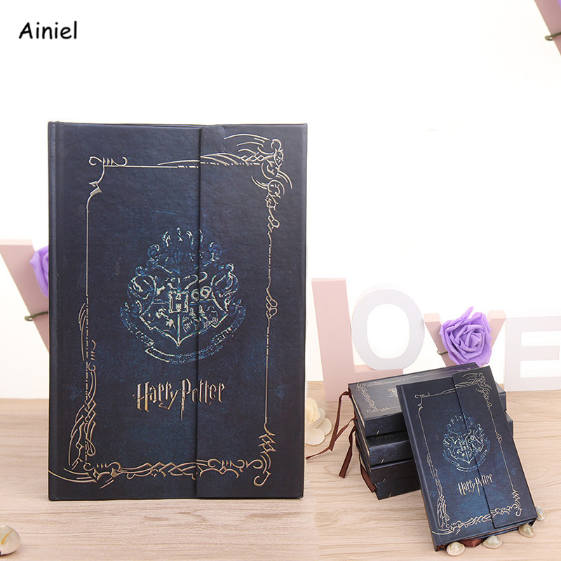 Hogwarts Notebook Diary Book Planner Magic Book Retro Hard Cover Agenda Schedule Gift Students Notebook School Office Supplies
