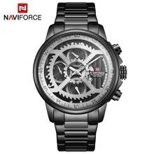 NAVIFORCE Mens Sports Watches Men Top Brand Luxury Full Steel Quartz Automatic Date Clock Male Army Military Waterproof Watch