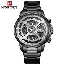 NAVIFORCE relojes deportivos para hombre, de cuarzo, automático, resistente al agua, militar, masculino