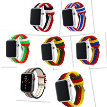 Woven Nylon Canvas Stripe Wristband For Apple Watch 44/42/40 / 38mm For I Watch Series 4/3/2/1 Men's And Women's Sports Bracelet