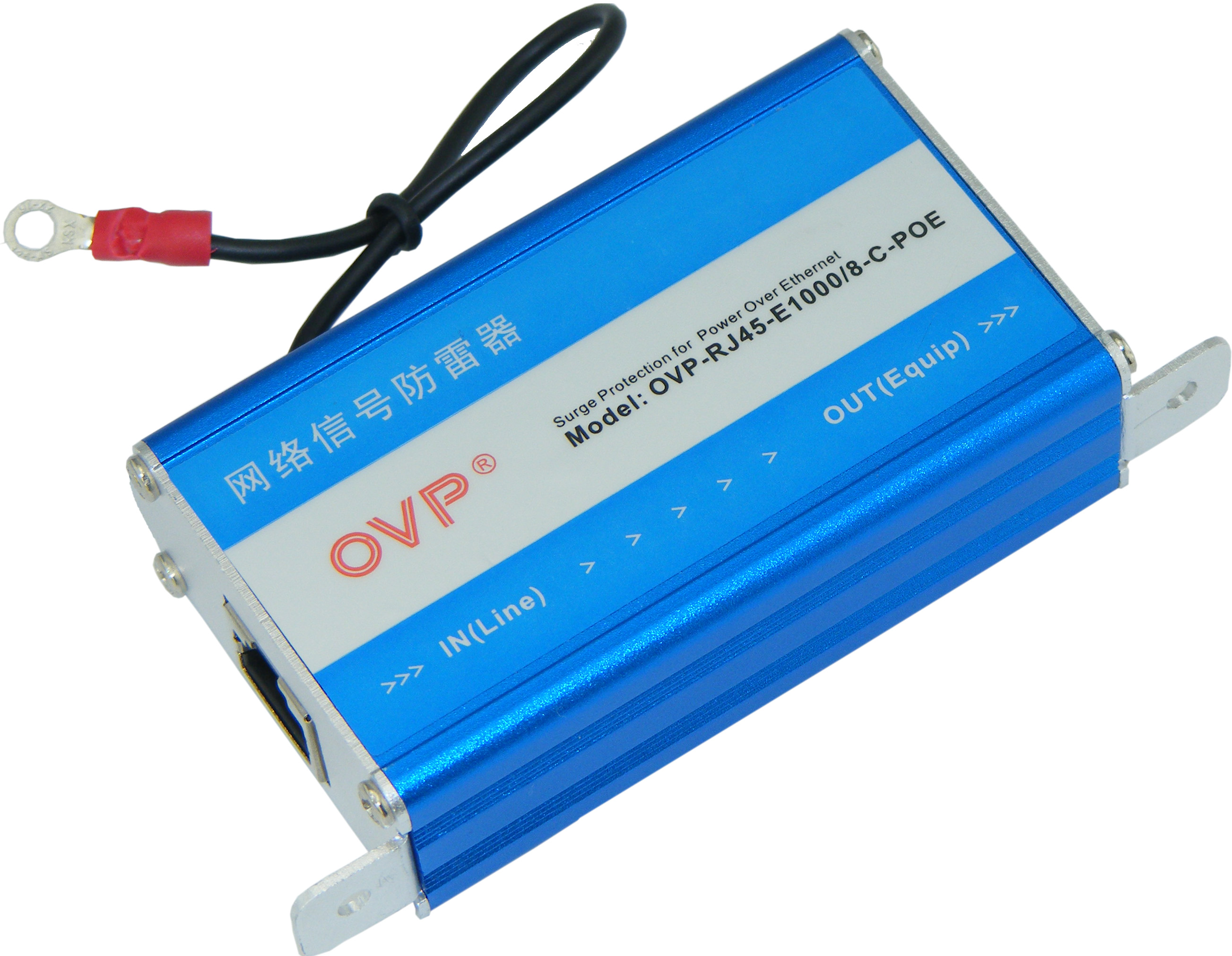 Gigabit POE Lightning Protection Device 1000 Megabit POE Network Signal Arrester Wireless Bridge Arrester in POE Network