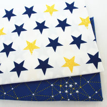 Blue Star Series Katoen Stof Patchwork DIY Quilten Naaien Fat Quarters Tissue Telas Tilda Handwerken(China)