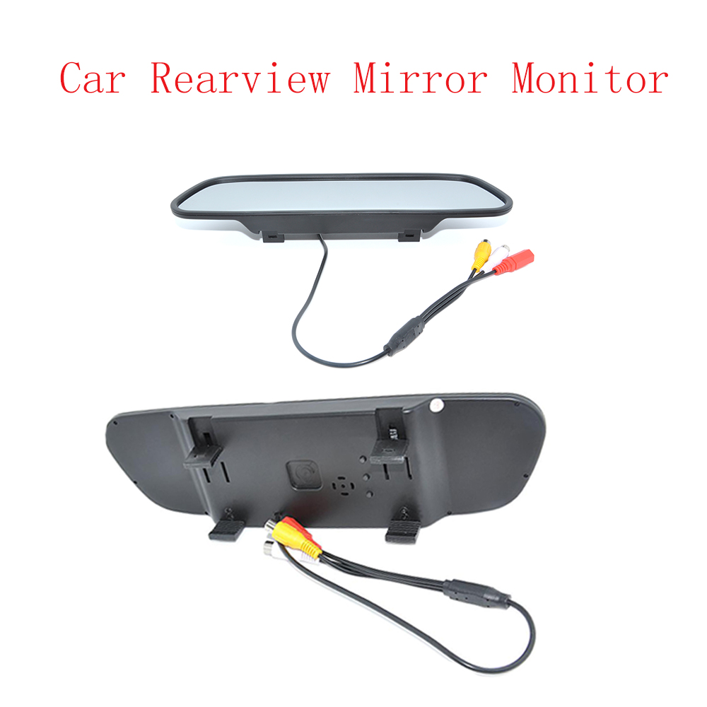 freeshipping High resolution DC 12V LCD display Car Rearview Mirror Monitor 5.0 inch for DVD Camera VCR top designer blue ripped jeans mens denim hole zipper biker jeans men slim skinny destroyed torn jean pants streetwear jeans
