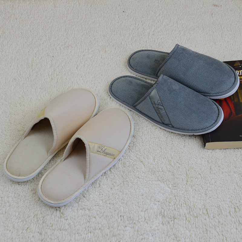 70a4379945366 New Non disposable slippers cotton towel male female hotel home massage  Beauty house indoor travel footwear women man soft shoe-in Slippers from  Shoes on ...
