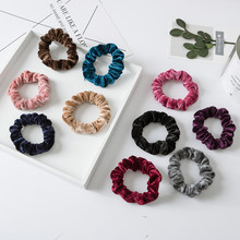 1PCS Soft Velvet Scrunchie Women Girls Elastic Hair Bands Tie Ring Rope Ponytail Holder Lady Accessories