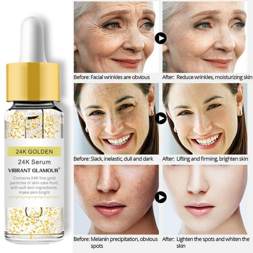VIBRANT GLAMOUR Gold 24K Face Serum Anti-wrinkle F