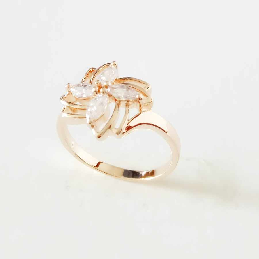 d8bdce56528c 585 розовое золото цвет свадебные украшения мода новая мода цветок форма  белый кубический