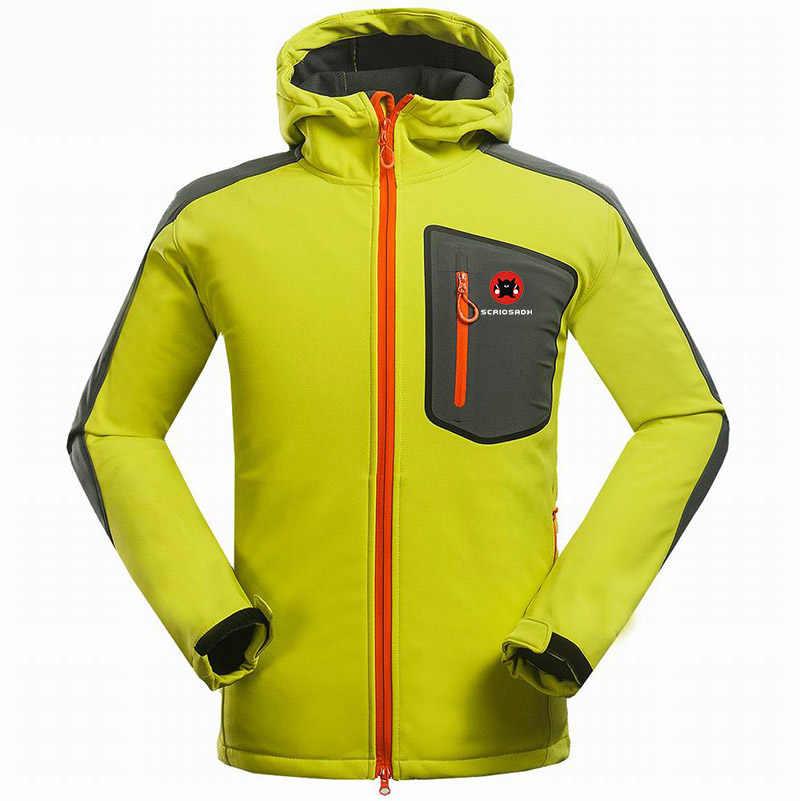 Nowy marka sportowe na świeżym powietrzu męska Camping kurtka wodoodporna wiatroszczelna Soft shell kurtka wspinaczka polar oddychające szybkie suche kurtki