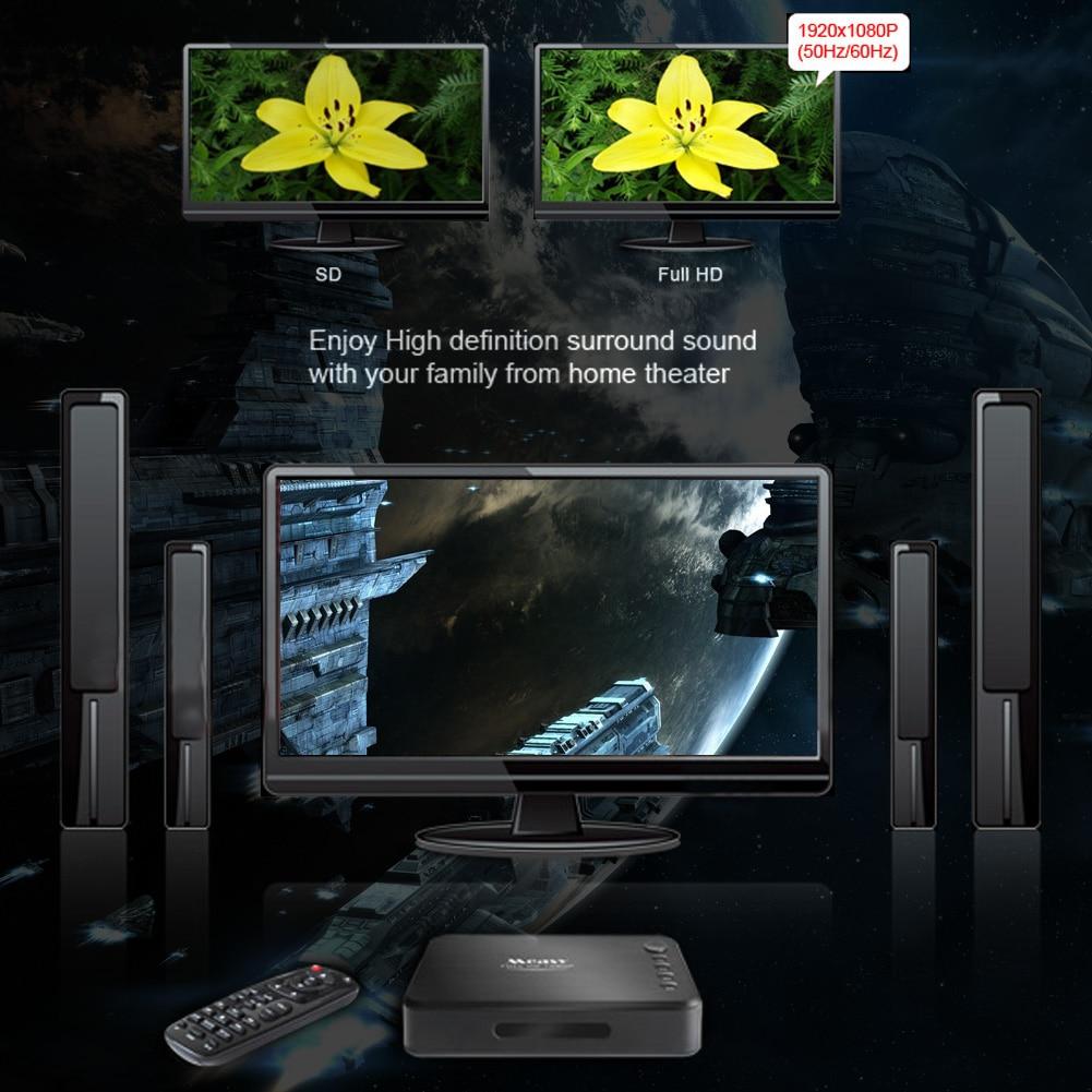 A1hd Мини Full HD 1080 P ТВ коробка multi media player MKV/H.264 USB2.0 США/ЕС Plug 10f4 ТВ коробка