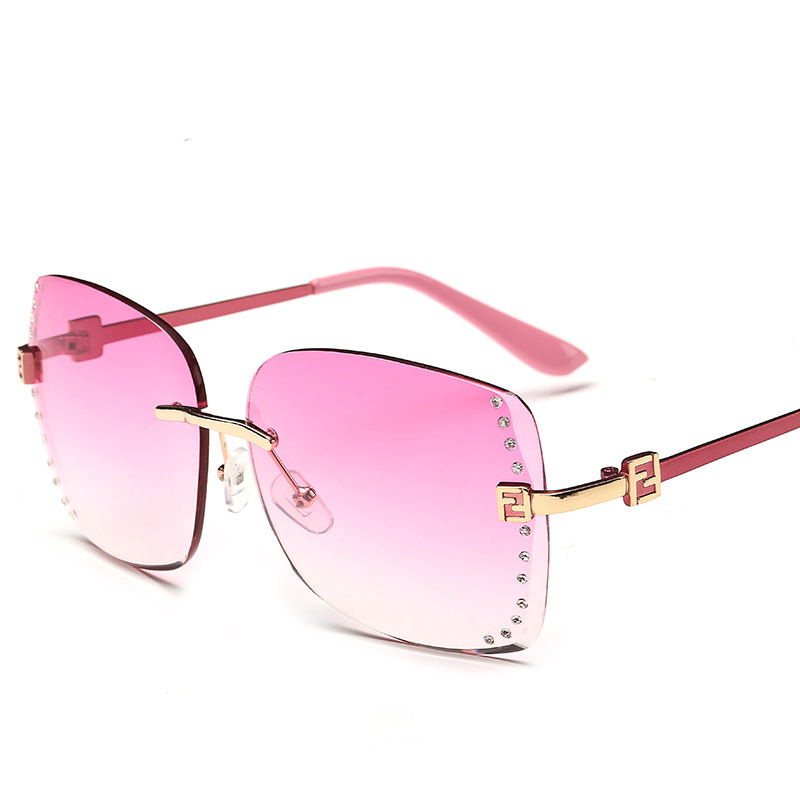 New Style Female Rimless Glasses Summer Sun Glasses Women font b Polarized b font font b